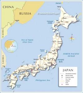 japonya haritaı