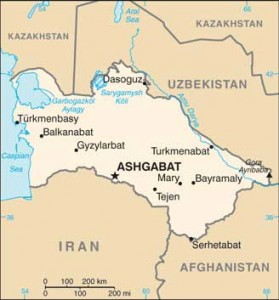 Türkmenistan Haritası